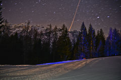 Noite em Folgarida Fotos de Stock