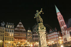 Noite em Francoforte Imagem de Stock Royalty Free