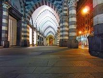Noite em Genoa Fotografia de Stock Royalty Free