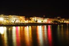 Noite em Greece imagem de stock royalty free