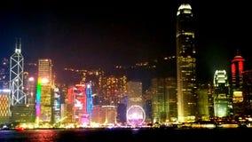 Noite em Hong Kong fotos de stock