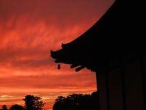 Noite em Japão fotografia de stock
