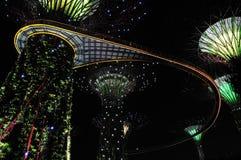 Noite em jardins pelo louro Imagens de Stock