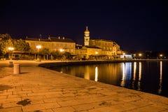 Noite em Krk Imagens de Stock Royalty Free