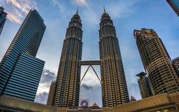 Noite em Kuala Lumpur, Malásia fotos de stock