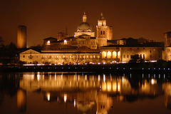 Noite em lagos Mantua Fotografia de Stock