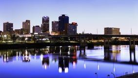 Noite em Little Rock Imagens de Stock Royalty Free