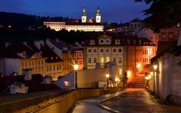 Noite em Mala Strana, Praga Imagens de Stock Royalty Free