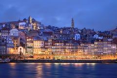 Noite em Porto, Portugal Fotos de Stock