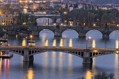 Noite em Praga Imagens de Stock