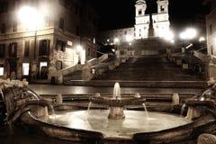 Noite em Roma, Italy imagens de stock royalty free
