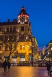 Noite em ruas de Baku Fotos de Stock Royalty Free