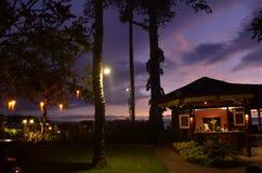 Noite em Sheraton Sengigi fotografia de stock