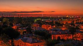 Noite em St Petersburg video estoque