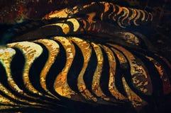 Noite em terra?os do arroz, fragmento, batik quente, textura do fundo, feito a m?o na seda ilustração royalty free