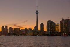 Noite em Toronto Fotos de Stock Royalty Free