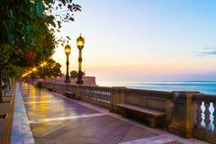 Noite em um parque de beira-mar foto de stock royalty free