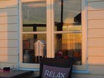 Noite em um restaurante da praia Foto de Stock Royalty Free