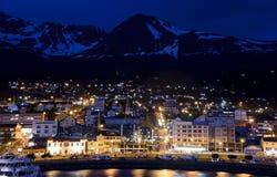 Noite em Ushuaia Fotografia de Stock Royalty Free
