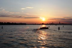 Noite em Veneza e feriados surpreendentes em Itália Imagem de Stock