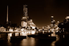 Noite escura fotografia de stock royalty free