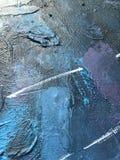 Noite escura do cosmos profundo do índigo fundo Escuro-azul com texturas naturais da pintura do índigo O contexto noturno de surp Fotografia de Stock Royalty Free