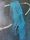 Noite escura do cosmos profundo do índigo fundo Escuro-azul com texturas naturais da pintura do índigo O contexto noturno de surp Imagens de Stock Royalty Free
