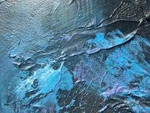 Noite escura do cosmos profundo do índigo fundo Escuro-azul com texturas naturais da pintura do índigo O contexto noturno de surp Imagem de Stock Royalty Free