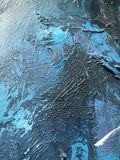 Noite escura do cosmos profundo do índigo fundo Escuro-azul com texturas naturais da pintura do índigo O contexto noturno de surp Fotos de Stock Royalty Free