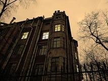 Noite escura do inverno Fotografia de Stock