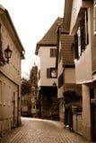 Noite Esslingen na cor do sepia Imagens de Stock Royalty Free