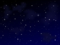 Noite estrelado [1] ilustração do vetor