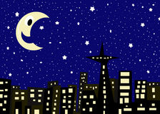 Noite estrelado Foto de Stock Royalty Free
