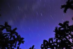 Noite estrelado estrelado imagem de stock