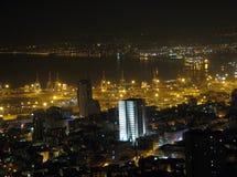 Noite Haifa foto de stock