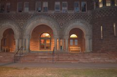 Noite Harvard em Boston, EUA o 11 de dezembro de 2016 Fotografia de Stock