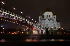 Noite, igreja, ponte imagem de stock royalty free