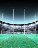 Noite iluminado por holofotes do estádio ilustração royalty free