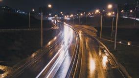 Noite Kazan do lapso de tempo do tráfego filme