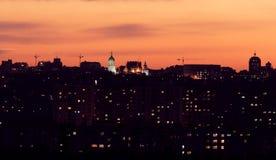 Noite Kiev imagens de stock