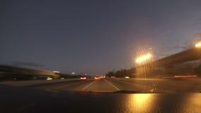 Noite-lapso da autoestrada video estoque