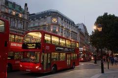 Noite Londres, Reino Unido Fotografia de Stock Royalty Free