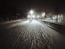 Noite longa do inverno fotografia de stock