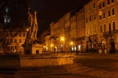 Noite Lviv Fotografia de Stock Royalty Free
