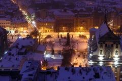 Noite Lviv Imagens de Stock