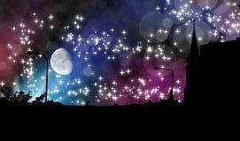 Noite mágica na cidade Foto de Stock