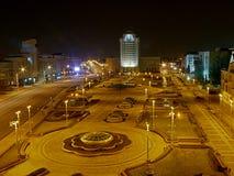 Noite Minsk Foto de Stock