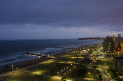 Noite morna do verão em Durban Imagens de Stock Royalty Free