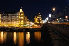 Noite Moscovo Fotografia de Stock