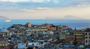 Noite Nápoles, Itália Foto de Stock